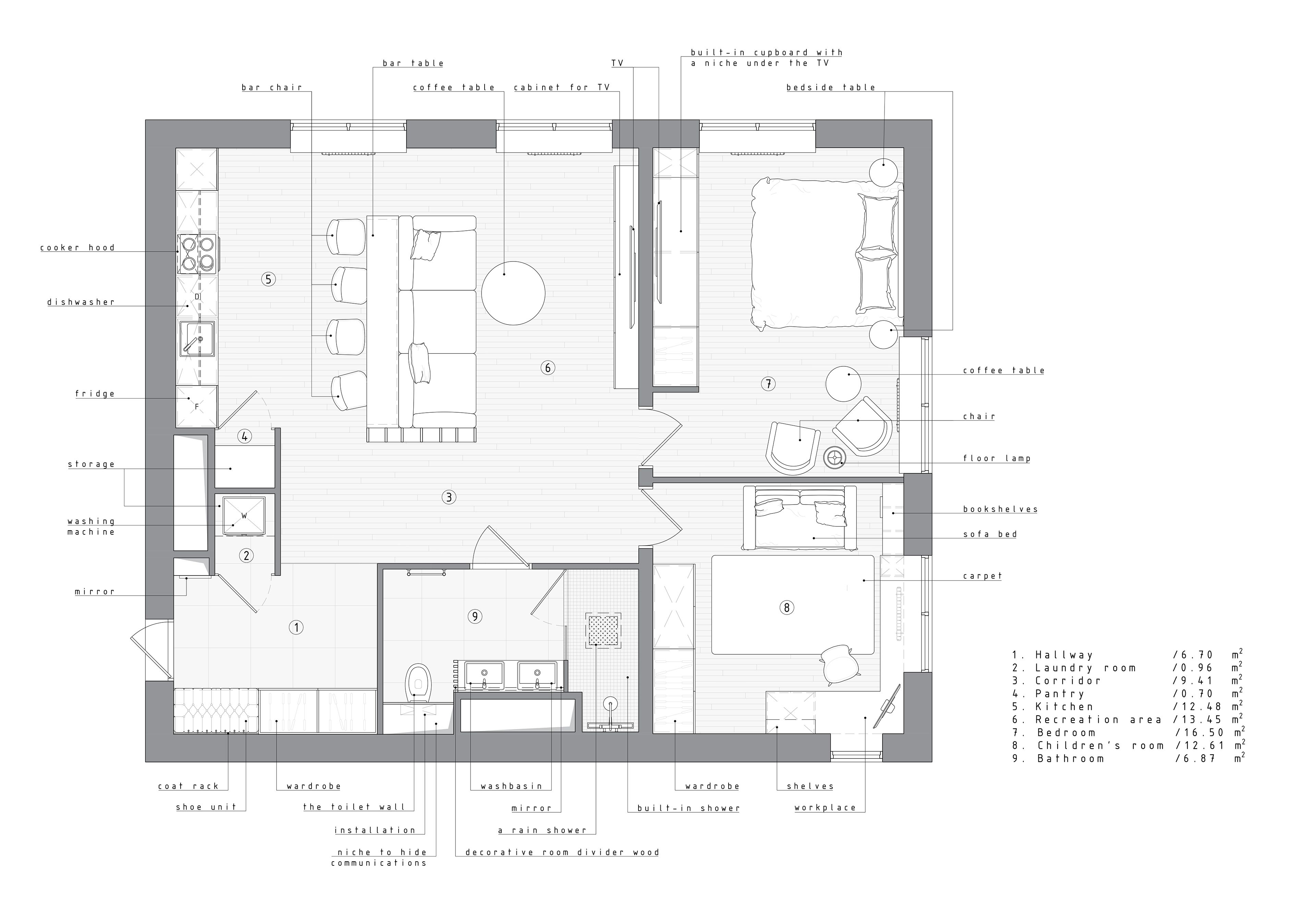 Apartment In Moscow Russia 80 M2 On Behance Condo Floor Plans House Plans Apartment Floor Plan