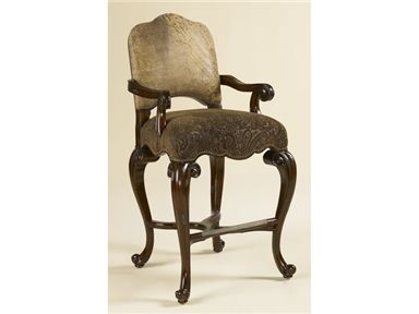 Shop For Maitland Smith Dark Antique Lido Finished Barstool Ragtime Leather And Paisley Upholstery 4230 346 Paisley Upholstery Bar Stools Florida Furniture