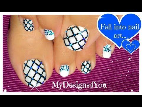 Glitter Fishnet Toenail Art Youtube Fashion Pinterest