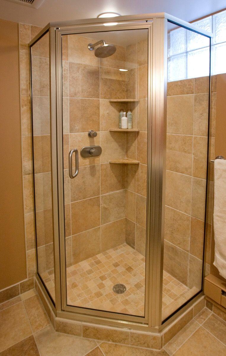 Corner shower | escaleras | Pinterest | Corner, Farm house bathroom ...