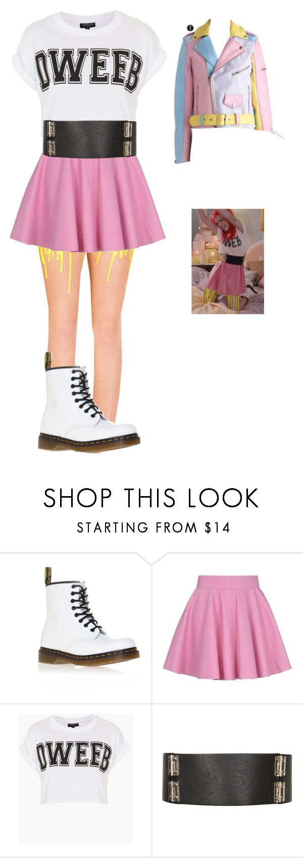 """""""HAYLEY WILLIAMS INSPIRED"""" by xxemotrashxx ❤ liked on Polyvore featuring Dr. Martens, Olympia Le-Tan and Topshop"""