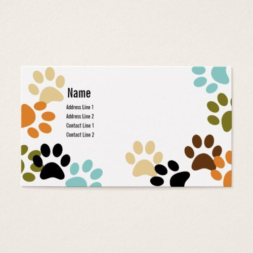 Dog Paw Prints Business Card Zazzle Com Printing Business Cards Dog Paw Print Paw Print Design