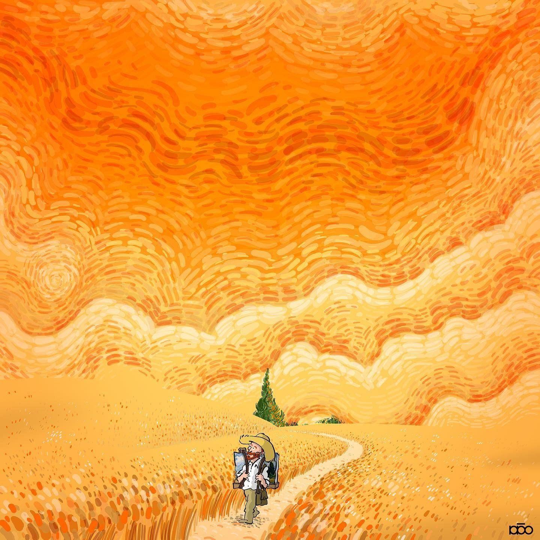 Alireza Karimi Moghaddam, 1975 | Van Gogh's life story in cartoon illustrations