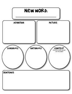 Marzano Vocabulary Template Pdf Google Search Daily 5 Cafe