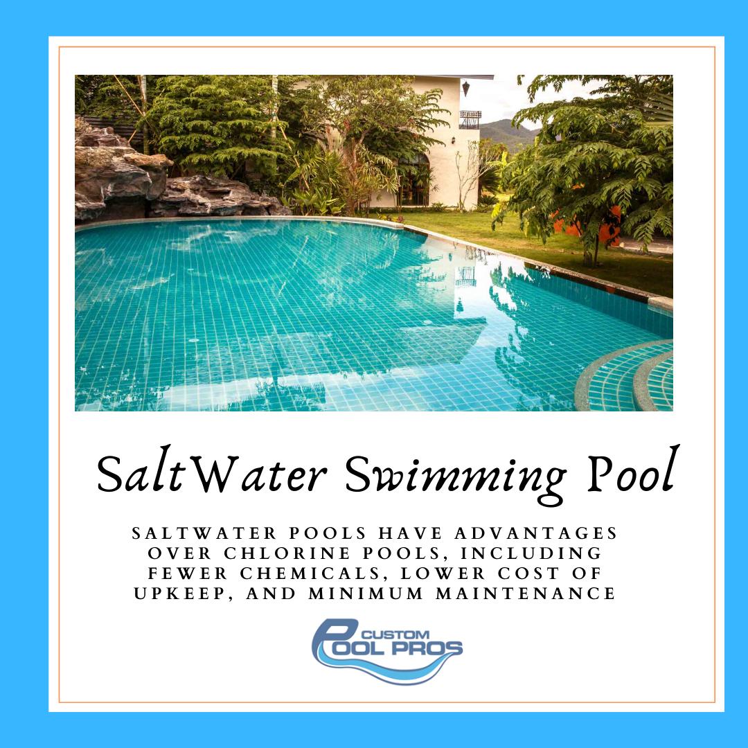 Salt Water Swimming Pool In 2020 Saltwater Pool Salt Water Swimming Pool Pool