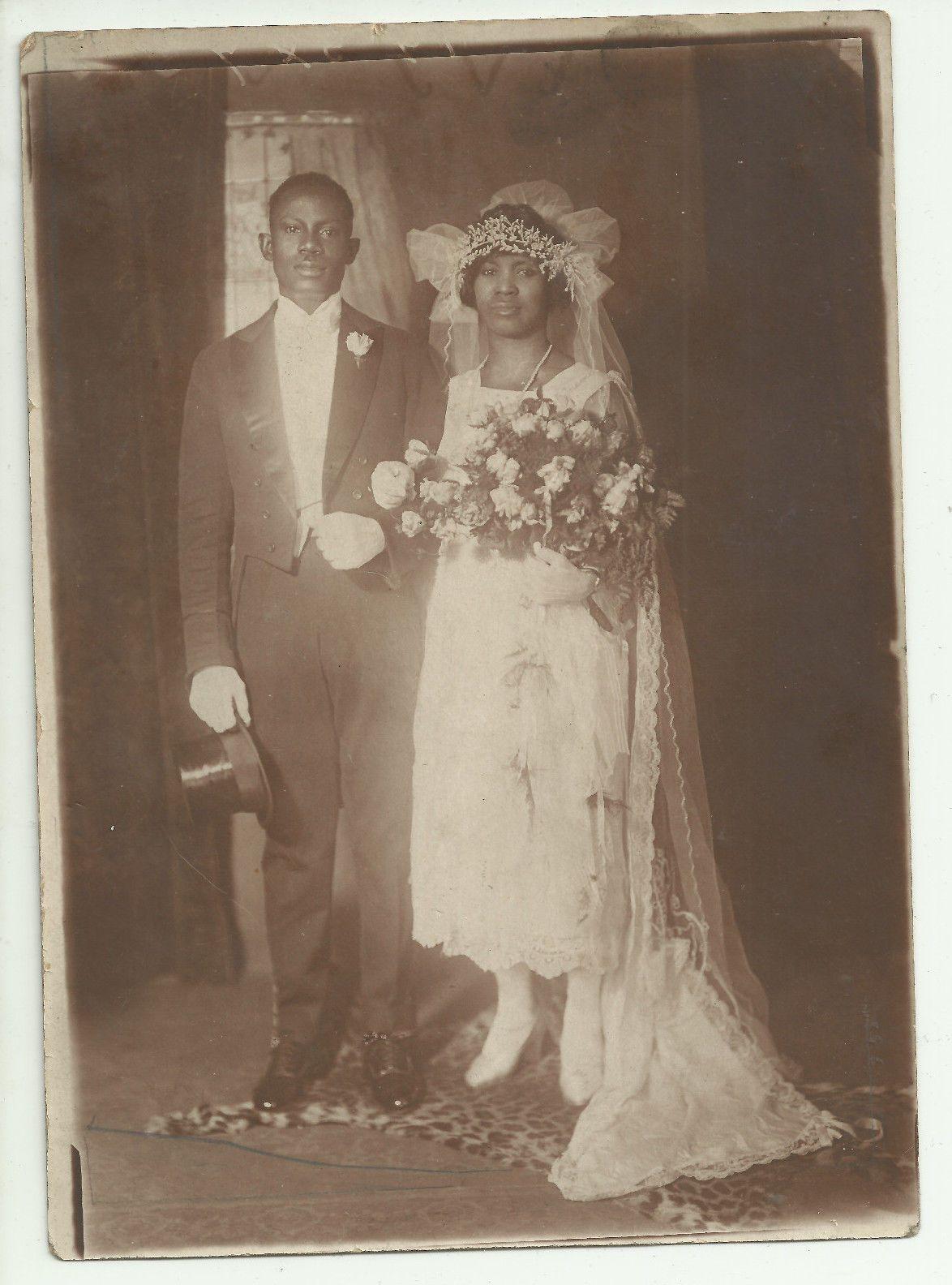 Vintage African American Bridal Couple A Vintage Studio