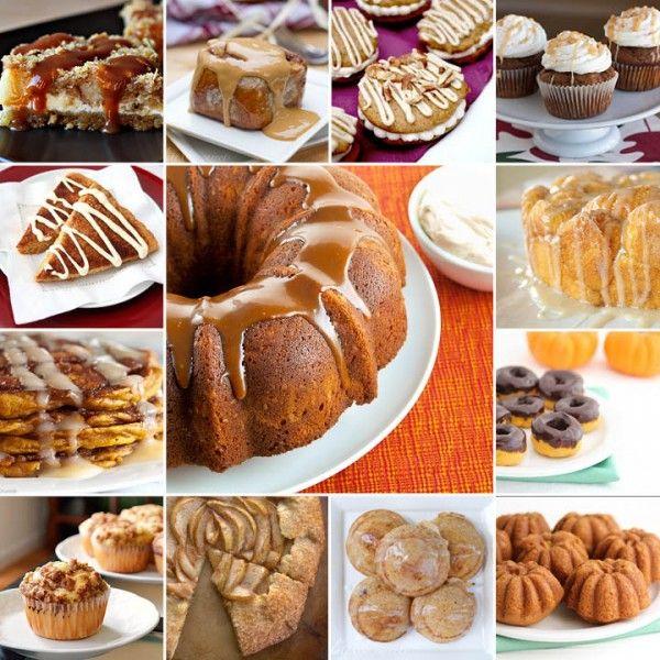 35 Fall Baking Recipes (pumpkin, apple, caramel, + more) #baking #recipes