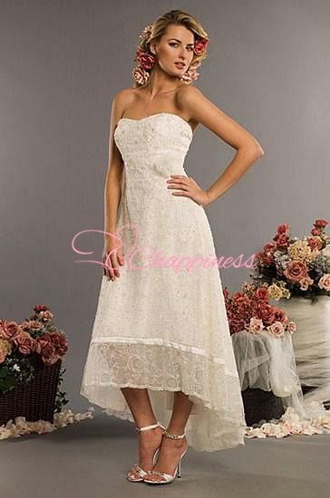 37365680321f1 Free Shipping High Low Style Casual Beach Plus Size Informal Wedding ...