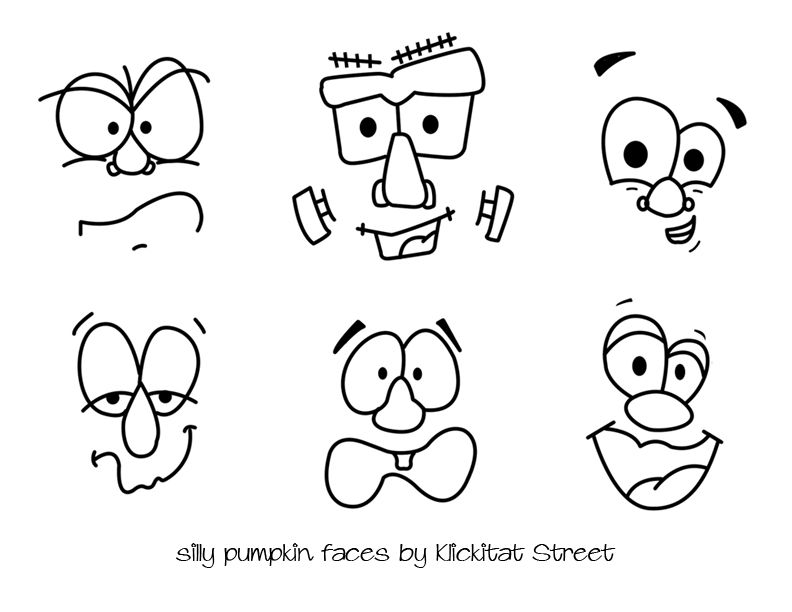 Silly Pumpkin Faces with Royal Icing Transfers | Klickitat Street ...