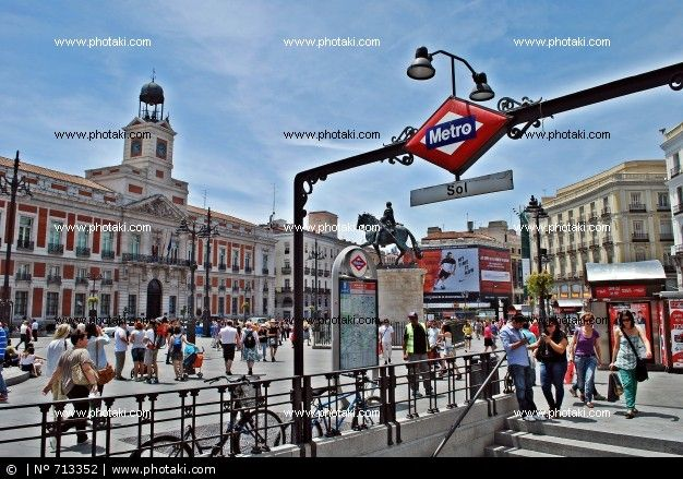 Pin by riomar fot grafos on fotograf as de madrid for Plaza de sol madrid