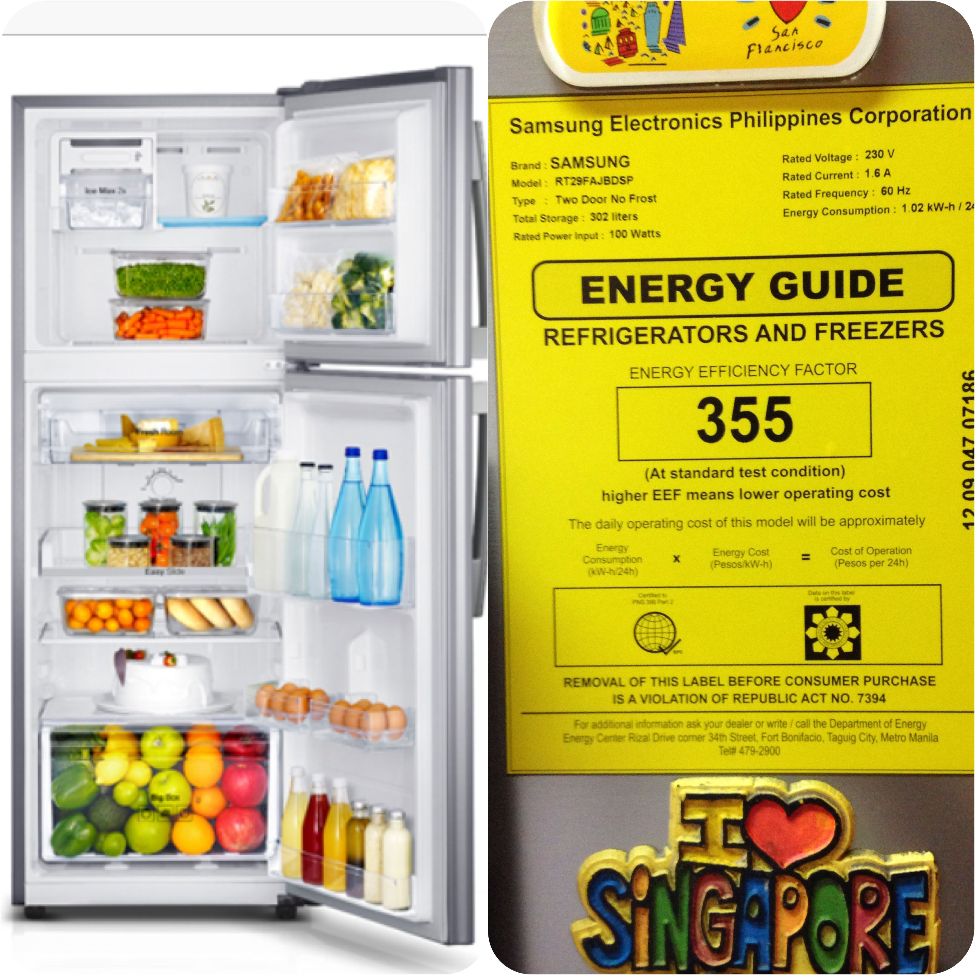Samsung Digital Inverter No Frost 10 7 Cu Ft Refrigerator Bearing The Philippines Department Of E Energy Efficiency Rating Save Electricity Refrigerator