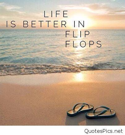 Funny Flip Flop Summer Quote With Sun Wallpaper Hd