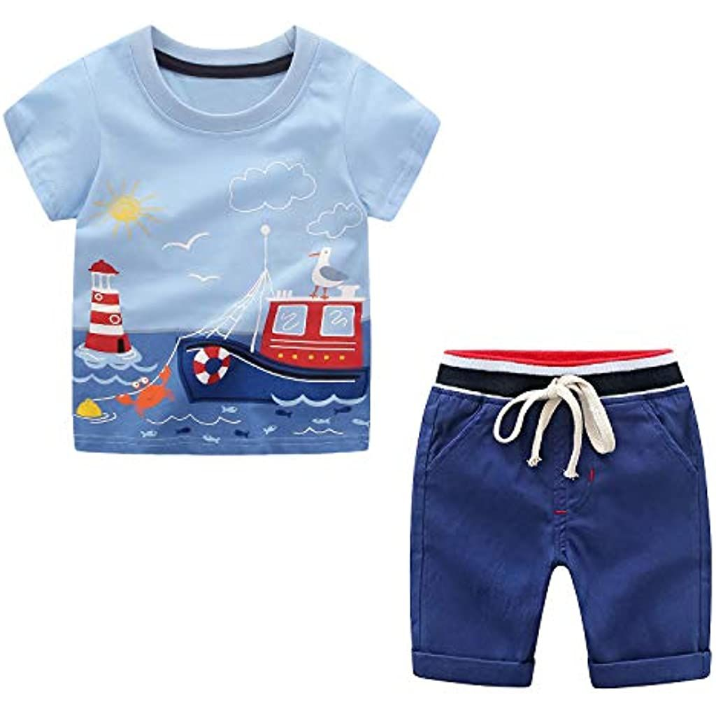 Shorts en Pantalon V/êtements Enfant Gar/çon Yilaku 1-6 Ans B/éb/é Gar/çon Ensemble T-Shirt