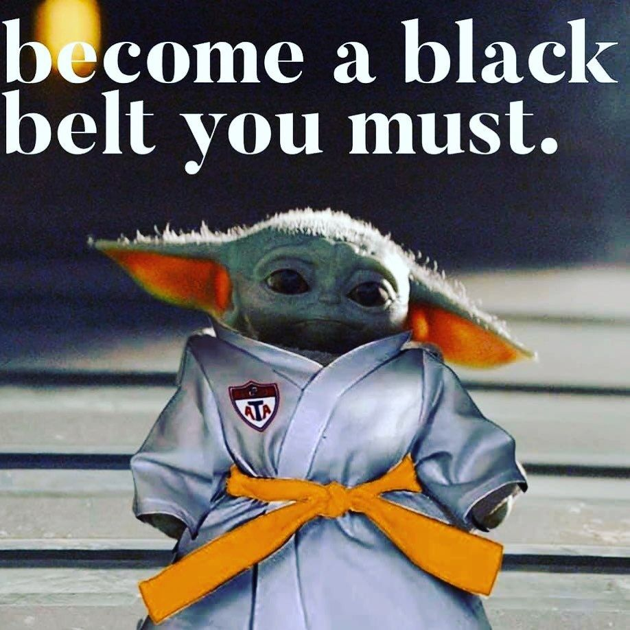 Even baby yoda knows the importance training in Martial