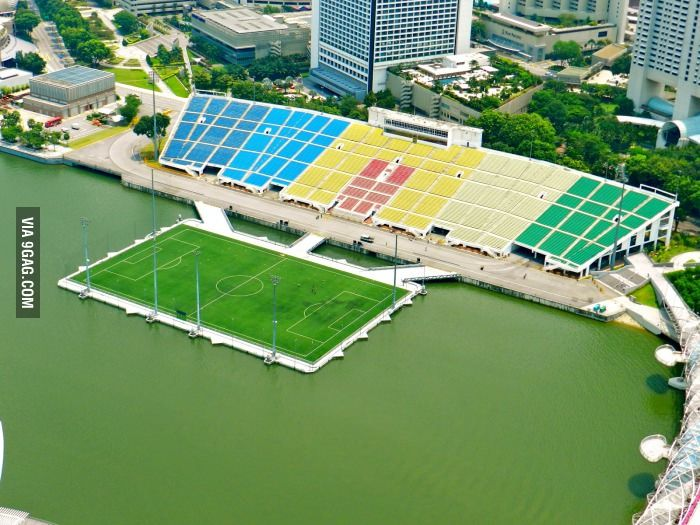 This Is Actually A Football Stadium In Singapore Football Stadiums Stadium Public Architecture