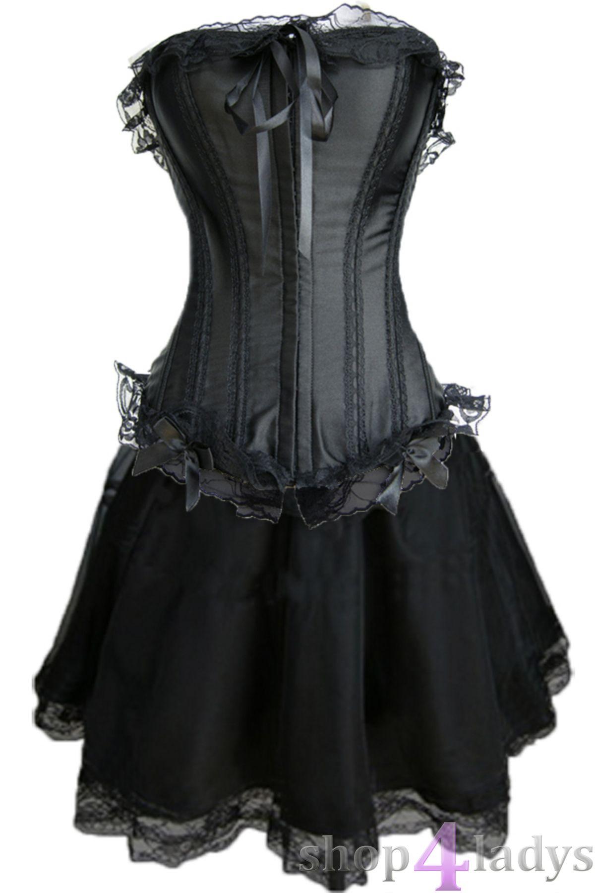 Corsagekleid Mini Rock Corsage Kleid Gothic Vakuumbeutel
