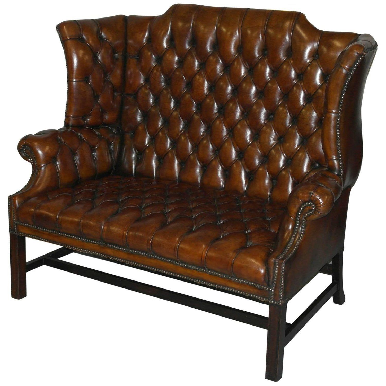 Strange Rare 1973 Geroge Iii Chesterfield Hand Dyed Wingback Leather Pabps2019 Chair Design Images Pabps2019Com