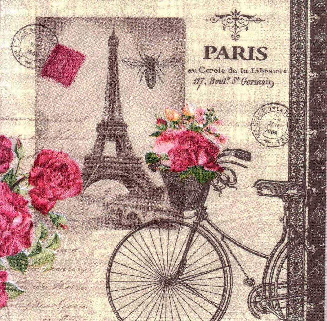 Decoupage Hojas Scrapbooking increíble Paris Arroz Decoupage Papel