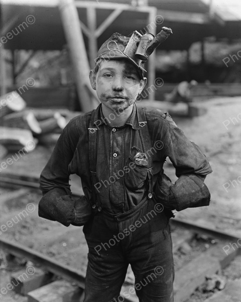 Coal Boy Miner Vintage 8x10 Reprint Of Old Photo