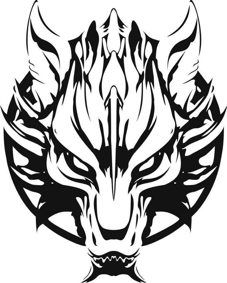 Viking Tattoo Template Wolf Fenrir