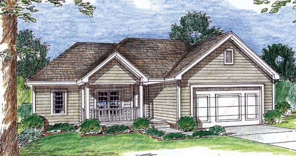 Traditional Style House Plan 44014 With 3 Bed 2 Bath 2 Car
