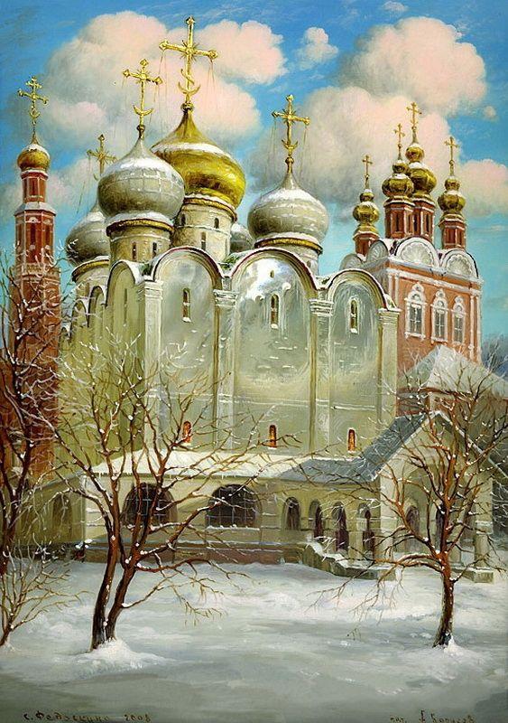 Храм на открытках, марта поздравления