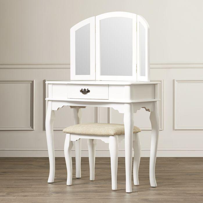 Best Edgar Vanity Set With Mirror Vanity Set With Mirror 400 x 300