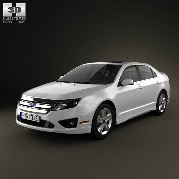 Ford Fusion Sport 2010 3d model from humster3dcom Price 75