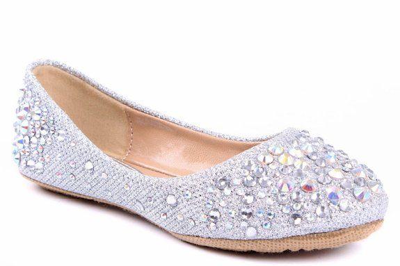 b379a56edfc4f JJF Shoes LARISA Kids Silver Loafer Slip Rhinestone Fashion Glitter Ballet  Flats Shoes-12