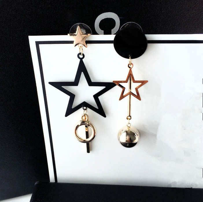 25c035531 Newest exaggerated big star earrings for women girls ,gold plated long  earrings asymmetrical drop earrings brincos Pendientes //Price: $12.49 &  FREE ...