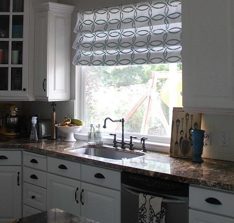 Curtain ideas for large kitchen windows curtain Window treatment ideas to make