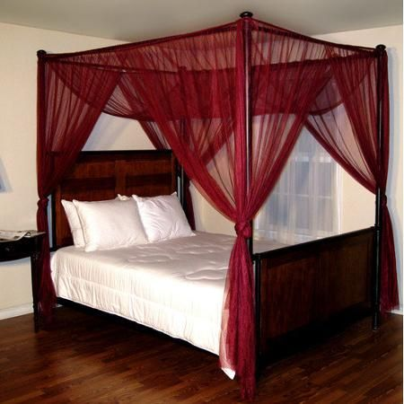 Palace 4-Post Bed Sheer Panel Canopy - Walmart.com & Palace 4-Post Bed Sheer Panel Canopy - Walmart.com | Studio ...