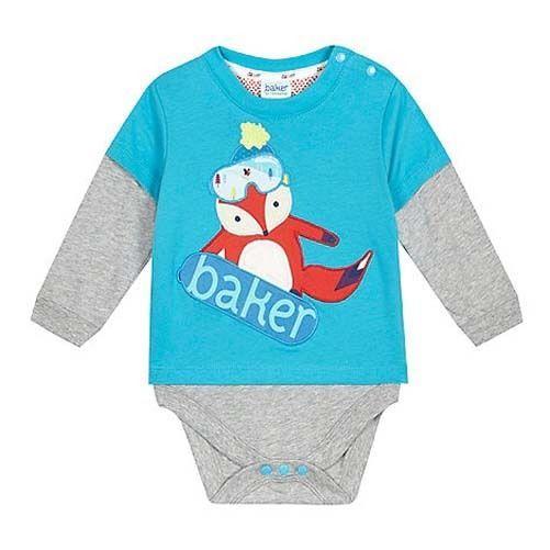 2ff09017609db2 Ted Baker Baby Boys Vest Romper Fox Bodysuit Designer Newborn Gift ...