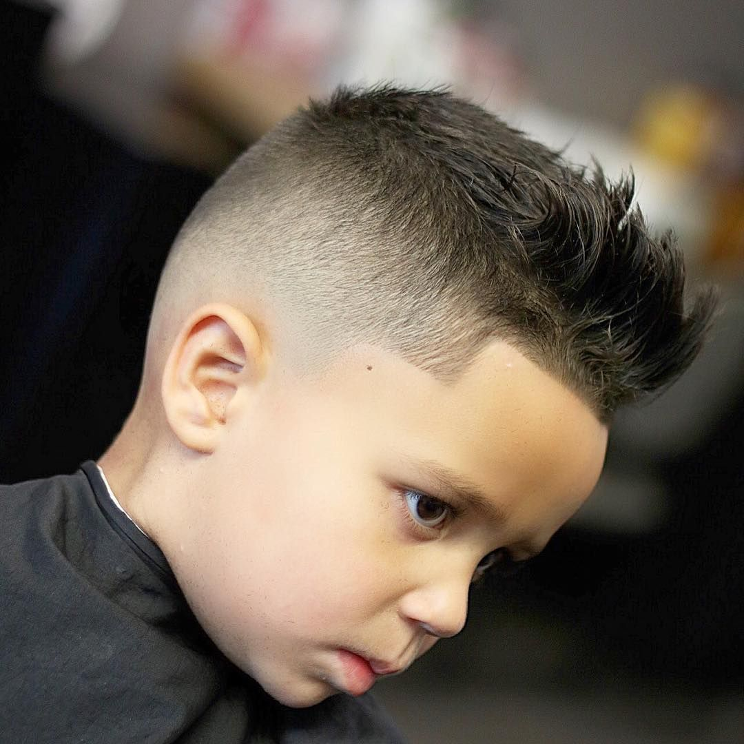 Mohawk With Line Up haircuts for boy | Kid Boy Line Up Haircuts ...