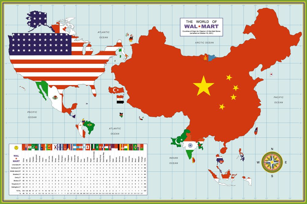 The frightening world of Walmart Go shopping this weekend to buy a - copy world map pdf file