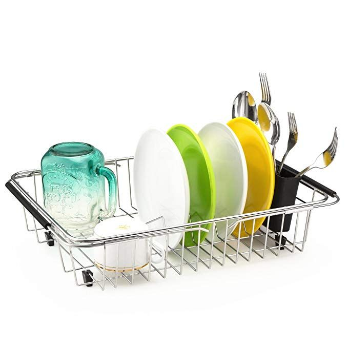 Ipegtop Dish Drying Rack In Sink On Counter Or Expandable Over