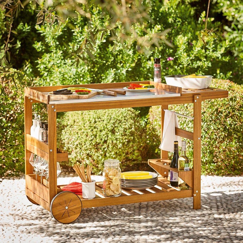 Barbecue Et Plancha Pas Cher Gifi Desserte De Jardin Desserte Exterieur Desserte Bois