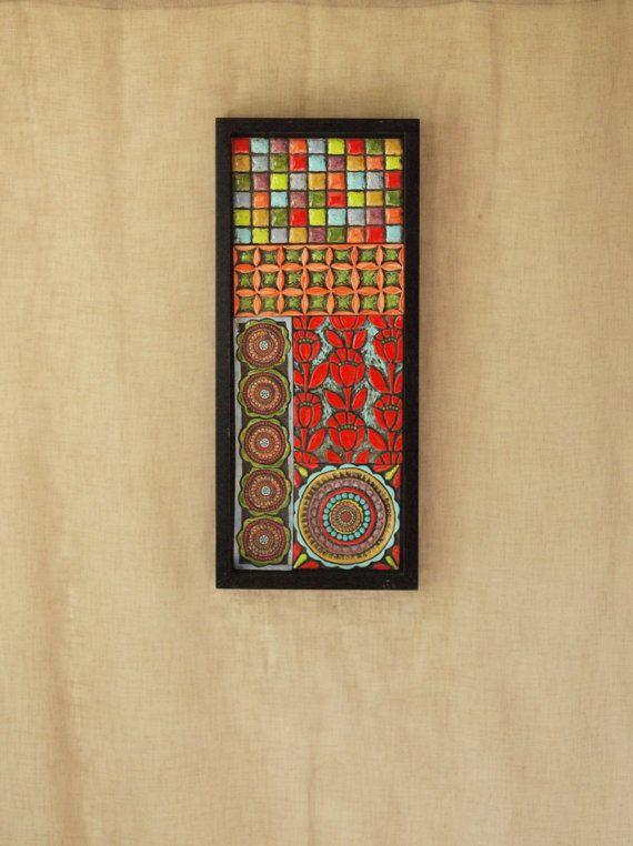 Moroccan Patchwork No.2 Mosaic Art Raku Clay Tile by romyandclare ...