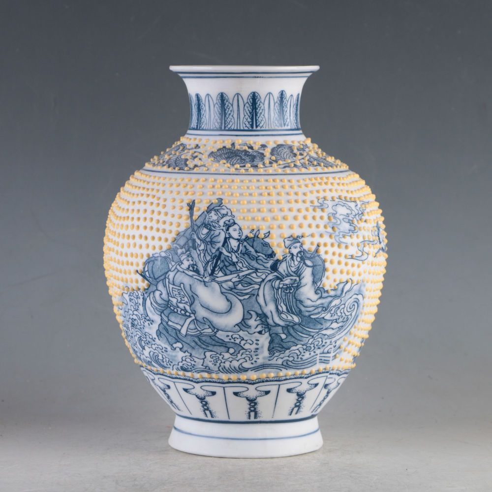 China porcelain hand painted the eight immortals vase made during china porcelain hand painted the eight immortals vase made during the daqing reviewsmspy