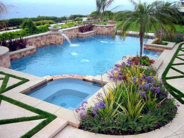 Pool Landscaping Pictures | Pool Deck GrassMediterranean PoolSolena  Landscape Co.Huntington Beach .