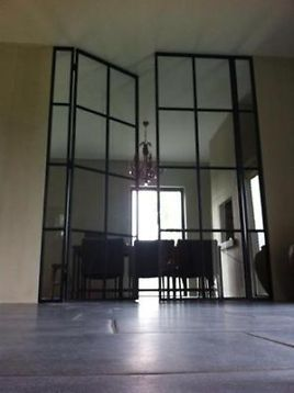 ≥ authentieke stalen deur, schuifpui, taatsdeur, binnendeur, Deco ideeën