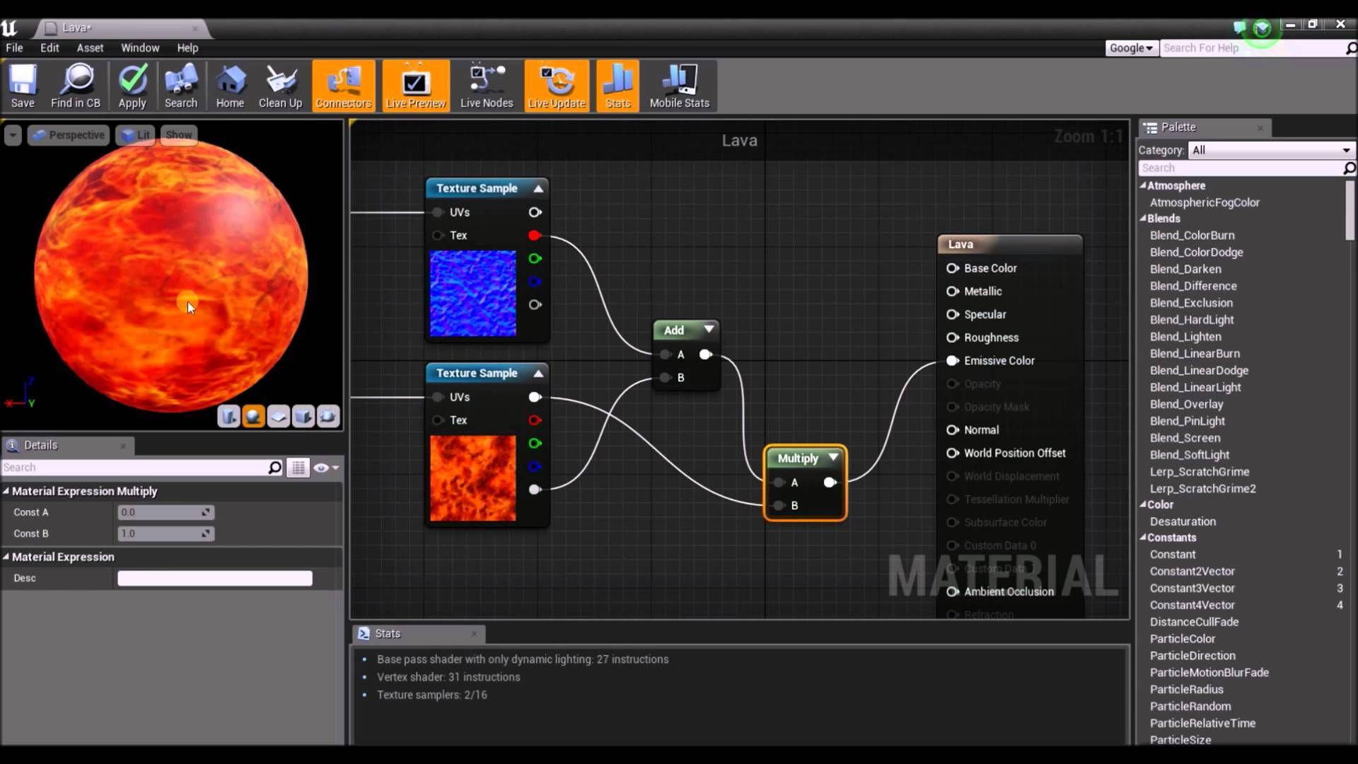 Unreal Engine 4 Lava Tutorial Unreal Engine Tutorial Lava