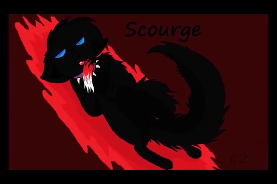Scrouge in blood