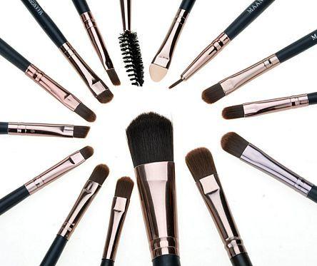 15pcs makeup brushes set eye shadow foundation eyeliner