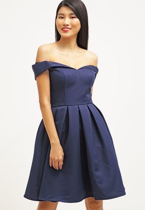 PORTIA - Sukienka koktajlowa - navy | Chi chi, Navy and Dress skirt