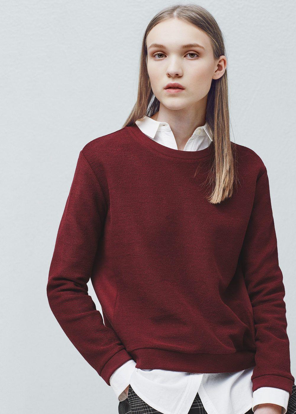 best sneakers 418da b4013 Strukturiertes baumwoll-sweatshirt - Damen   new style ...