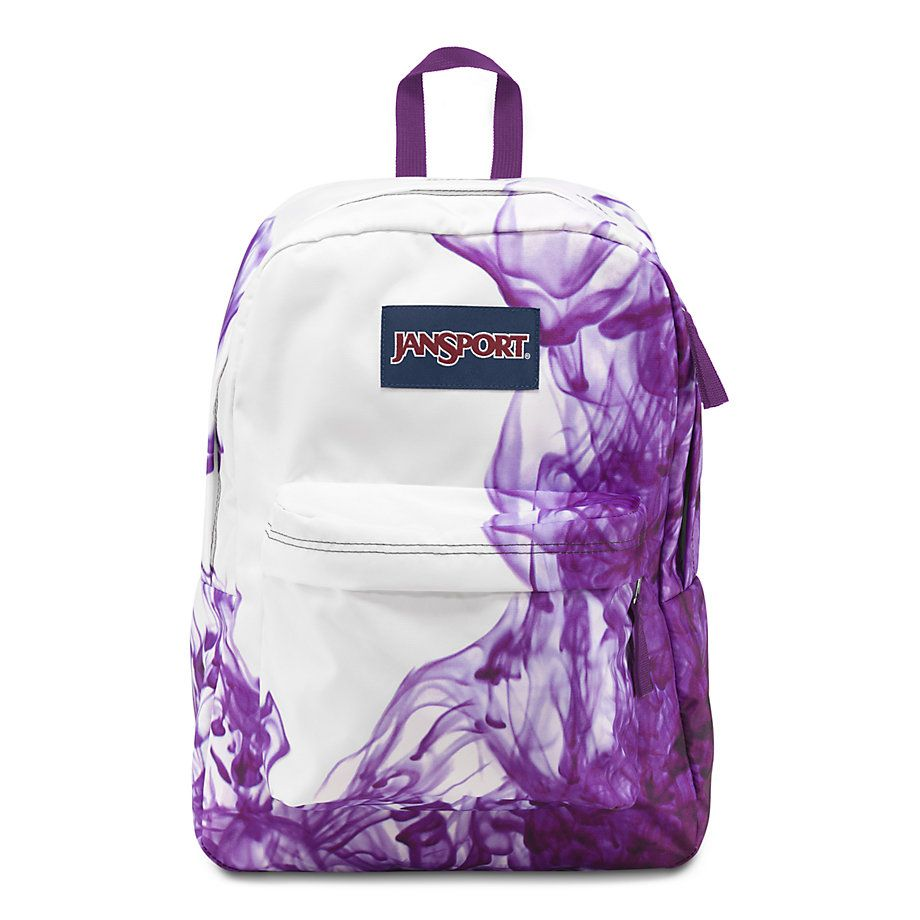 JanSport SuperBreak School Backpack - MULTI/PURPLE DRIP DYE | Wish ...