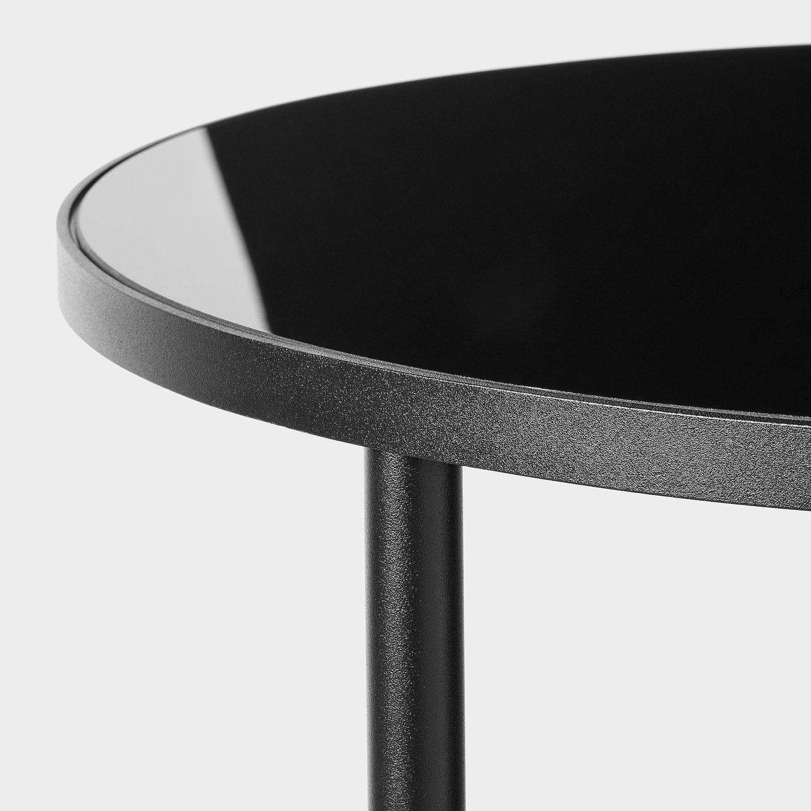 Asperod Side Table Black Glass Black 173 4 Ikea In 2021 Black Glass Side Table Black Glass Black Side Table [ 1600 x 1600 Pixel ]