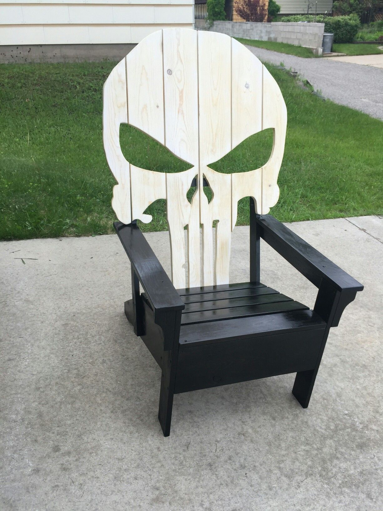 punisher chair garage projects and diy pinterest punisher woodworking and wood projects. Black Bedroom Furniture Sets. Home Design Ideas