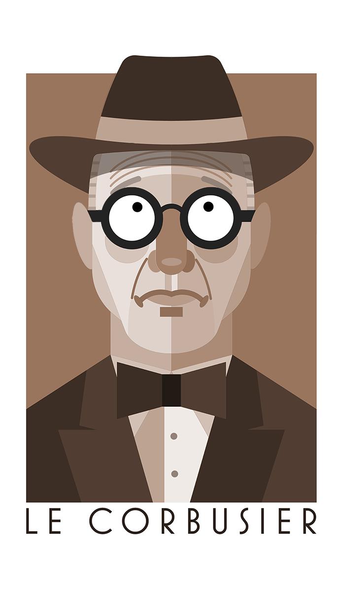 Image result for Le Corbusier karikator